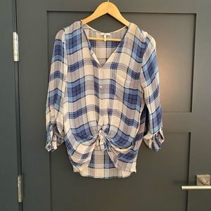 Joie plaid blouse